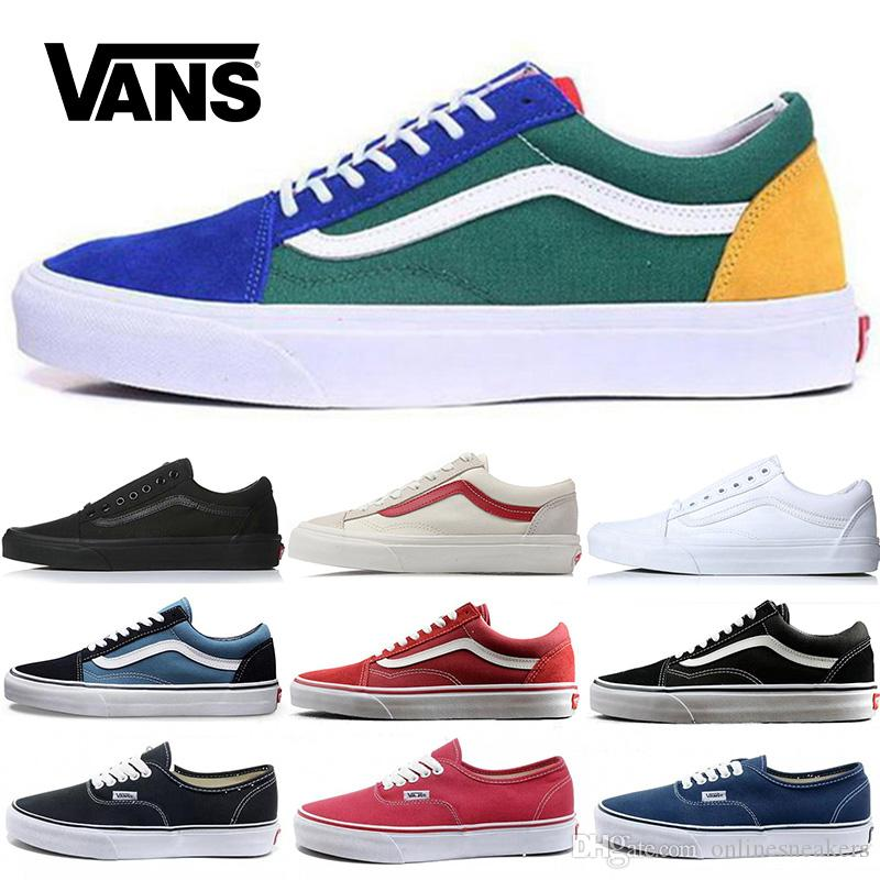 vans shoes for men black and red