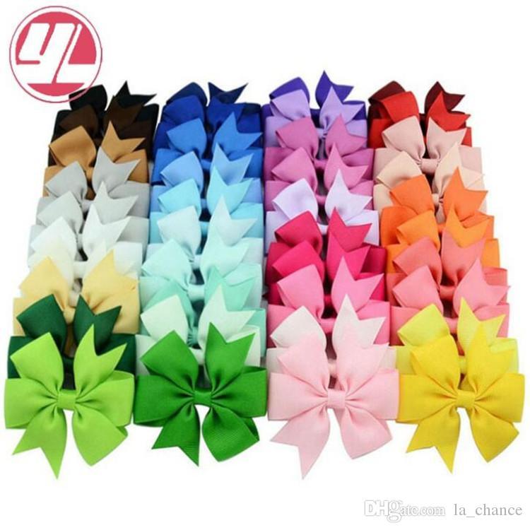 40 Farben nette Bogen Spangen Kinder hairclip Normallack fishtail Bogen Hairpin Mode Haar-Accessoires für Kinder