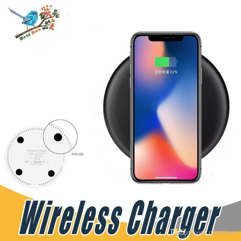 10W rapide chargeur sans fil Qi Recharge rapide Pad pour GooPhone XR X 8 Plus Samsung Galaxy Fold S10 + S10 S10e Note9 pour iPhone XS MAX