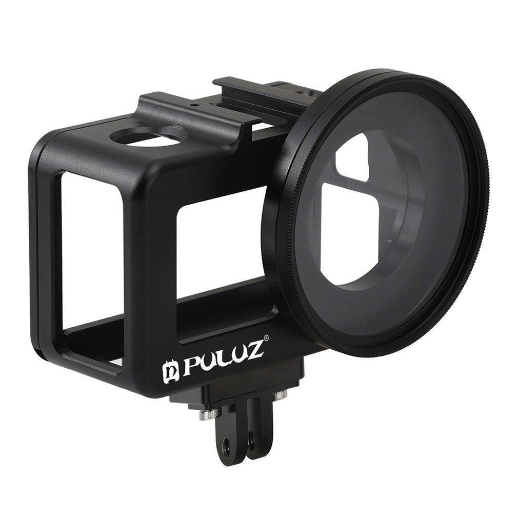 Cámara 1 juego de Shell de vivienda CNC de aleación de aluminio de protección jaula con UV 52 mm de la lente para Dji Osmo Acción