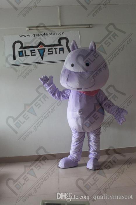 ventre en mousse lumière costumes violet mascotte hippopotames nouveaux costumes de cheval de rivière de lavande personnalisé STAR POLE MASCOT COSTUMES