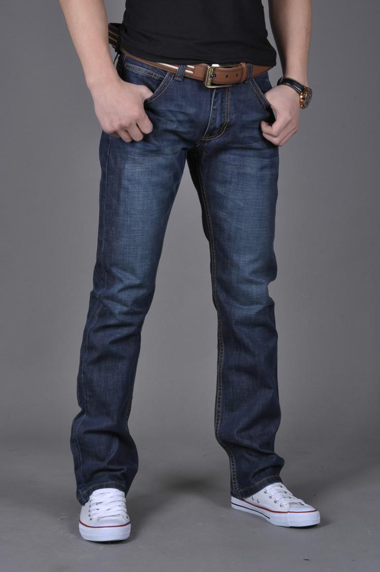 Dark Blue Denim Jeans para hombre Brand Jeans pantalones masculinos de los hombres pantalones casuales más tamaño corredores mezclilla tamaño de los pantalones vaqueros motorista 28-38