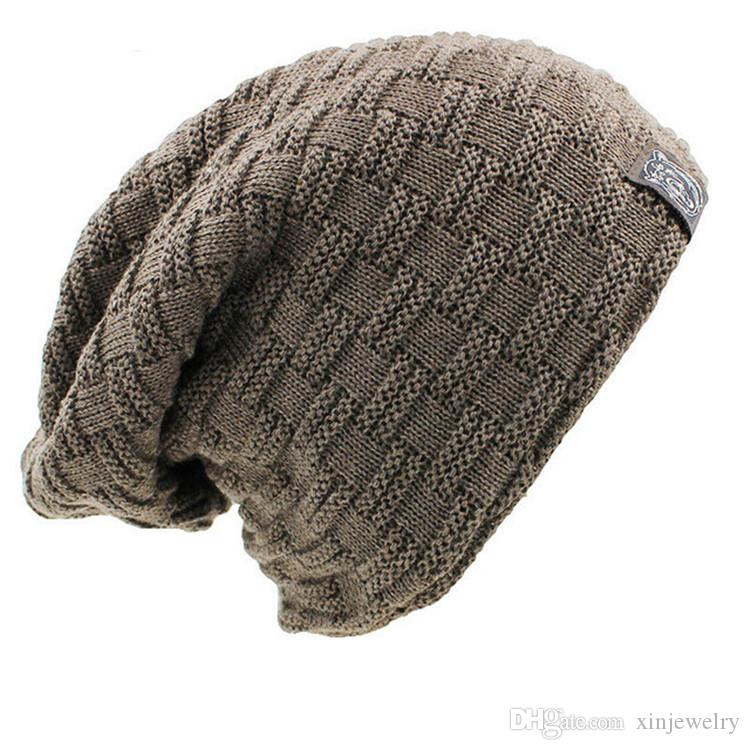 Men Women Warm Winter Hat Soft Stretch Cable Knitted Poms Beanies Hats Outdoor Slouchy Beanies Knitted Caps