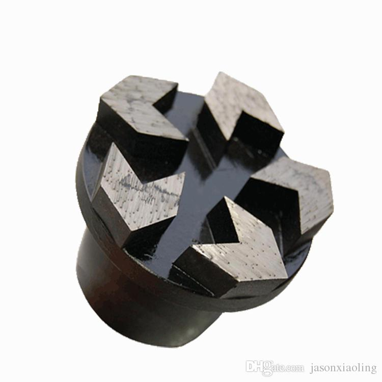 9 Pieces 2 Inch D50mm Metal Bond Diamond Grinding Plug with Five Arrow Segments Diamond Grinding Wheel for Concrete and Terrazzo Floor