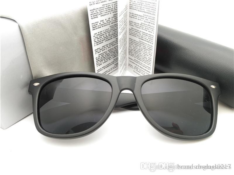 Горячие на продажу Марка Классический черный коричневый Солнцезащитные очки Мужчины вождения солнцезащитные очки Электрическое оборудование Энергоносители мужчину Оттенки с коробкой óculos SunGlass 1шт высокого качества