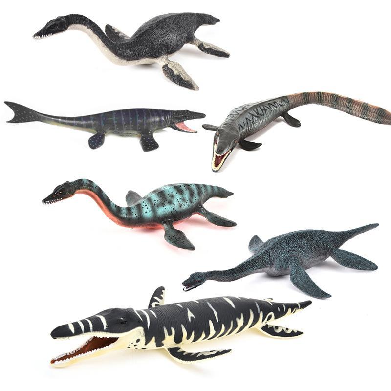 Cross Border Jurassic Solid Slide Tooth Dragon Simulated Dinosaur Models Toy Mosasaurs Plesiosaur Model Ornaments Wholesale
