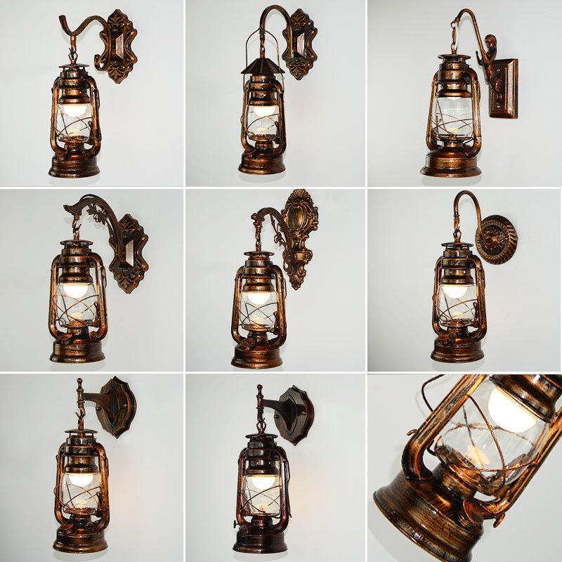 Cherosene lampada da parete antica Horse Lamp Passage appeso a parete Bar Ristorante decorazioni arte del ferro Personal