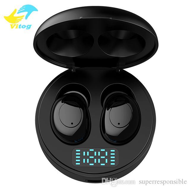 Vitog TWS 5.0 Auricolare Bluetooth Sport auricolare senza fili mini cuffia P06 auricolari con display LED di alimentazione auricolari in-ear
