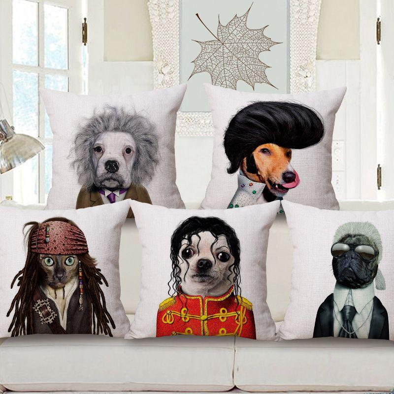 Animal Star Pillow Cotton Cushion