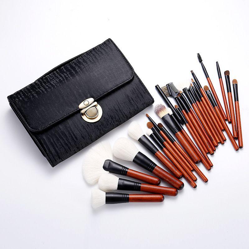 26pcs de luxe Pinceaux Ensembles Laine professionnelle Eyeshadow Fondation cosmétiques Beauté kits d'outils brocha de maquillaje gros T1702