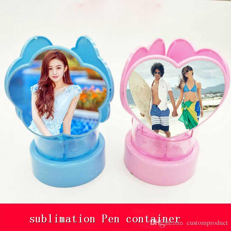 sublimaton new blank pen holder DIY personalized blank hot transfer printing consumables supplies can print three sides new styles