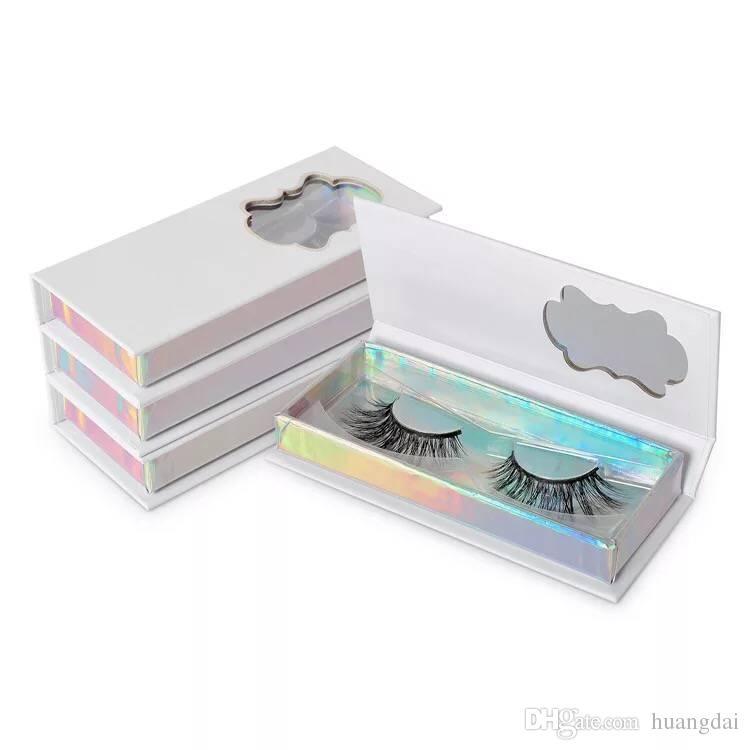 Caja de embalaje de almacenamiento de pestañas falsas Cajas de pestañas Estilo de fregado Estuche de pestañas vacías Almacenamiento de pestañas compuestas reutilizables