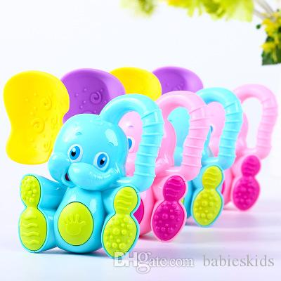 Elephant Deer Baby Rattles Kids Educational Toys for Children Newborns Mobile Boys Girls Crib Stroller Stuffs Safety Plastic