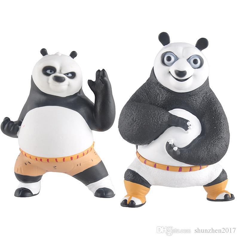 Кунгфу Panda 3 Dragon Warrior Комиксы Фигурки Стили черный / белый банк Детские игрушки Абао украшения Детские игрушки Подарочные Piggy Bank