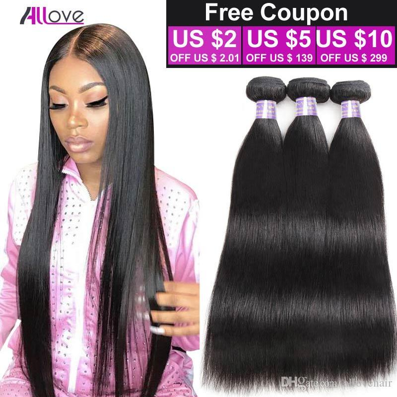 Good Quality 8A Unprocessed Brazilian Virgin Straight 3 Bundles Human Hair Hot Selling Virgin Brazilian Malaysian Straight Human Hair Weave