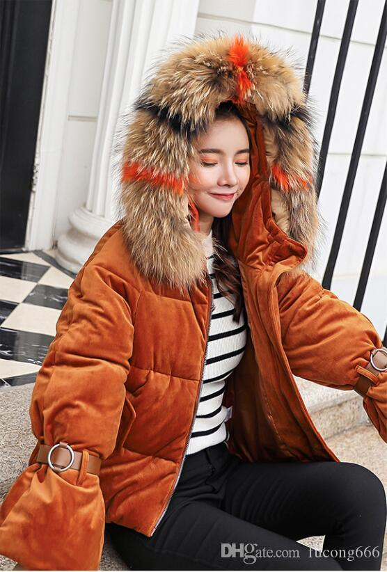 Free shipping new fashion casual autumn and winter jacket women's Parker thick warm velvet jacket female hoodie fur collar coat