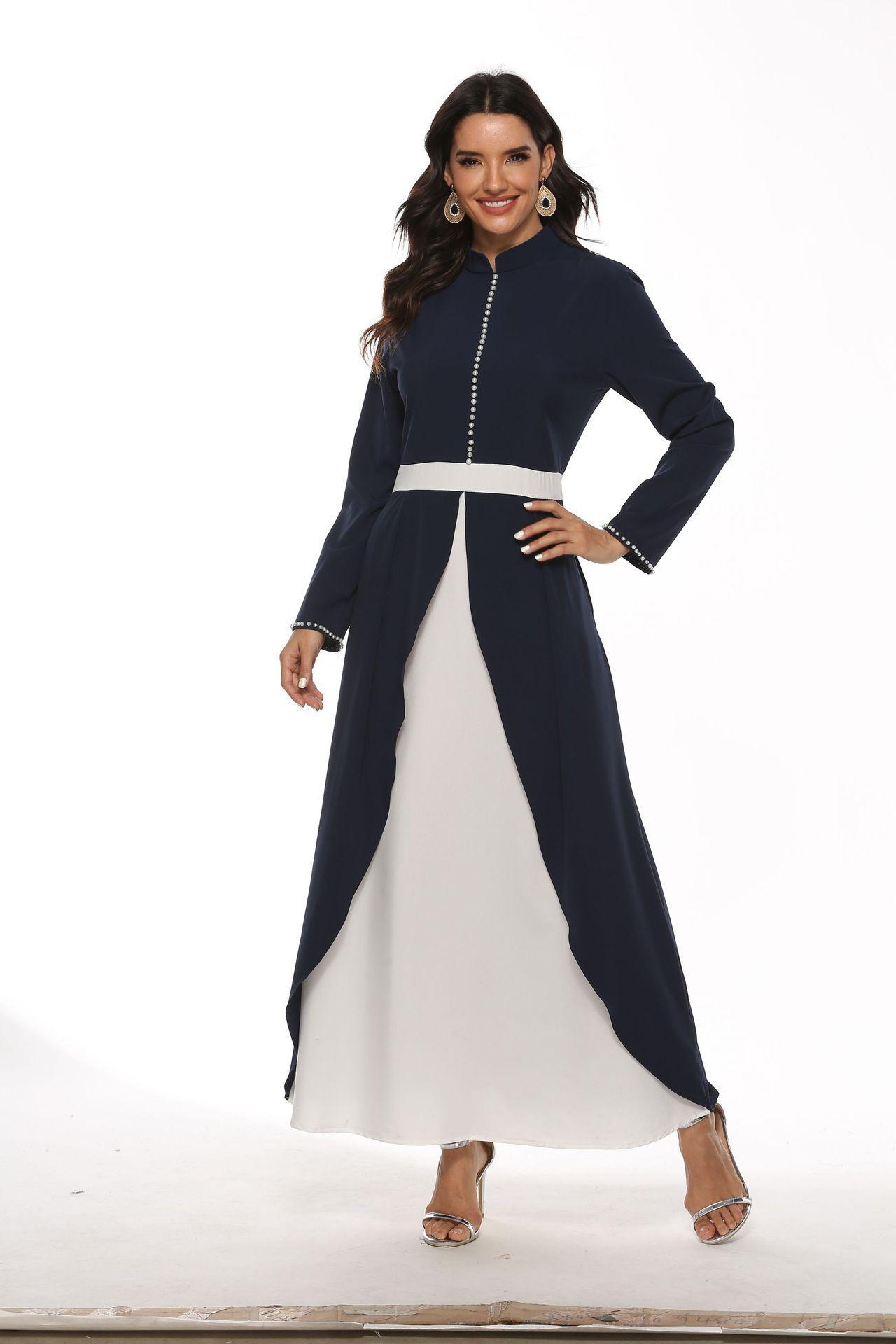 Abaya Dubai Hijab Robe Femmes Musulmanes Caftan turque Robes Kaftan Marocain Islam Vêtements Vestidos Robe Longue Musulmane