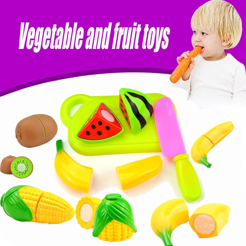 Fai da te fingono il bambino da cucina in plastica alimentare Toy Set di taglio Cottura di frutta per bambini Kid giocattoli educativi per bambini ragazzi ragazze