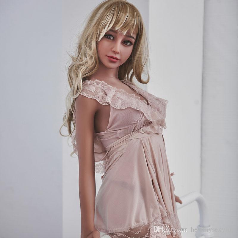 157cm Full Size bonito Sex Dolls realista com metal esqueleto realista Oral Vagina Silicone japonês Love Doll peito pequeno Dolls Sexy