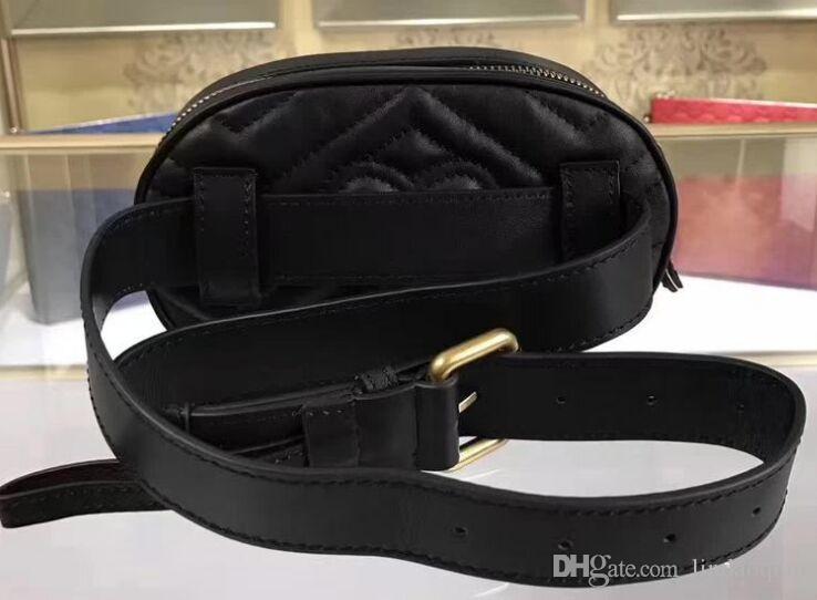 Il sacchetto della cinghia 100% Borse di cuoio reali di alta qualità di marca borse in pelle progettista cintura Marsupio piccola borsa di trasporto di goccia catena della borsa Bag