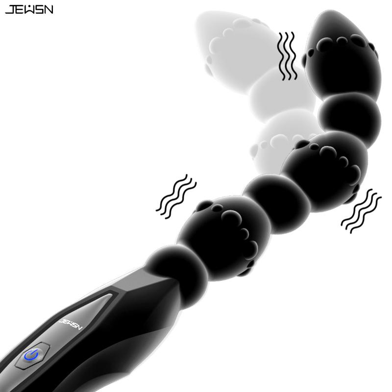Allonger Vibrator Anal Perles Pull USB Charging magnétique Plug Anal 10 vitesses de vibration G Spot stimulation Gay Adult Sex Toys Y200409