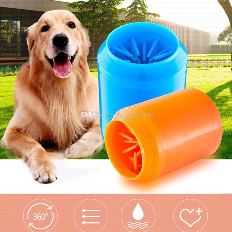 Pata do cão Cleaner silicone suave Suave portátil Pet Pé escova de limpeza Pé Cat Washer Cup Paw Limpo escova rapidamente Washer sujo