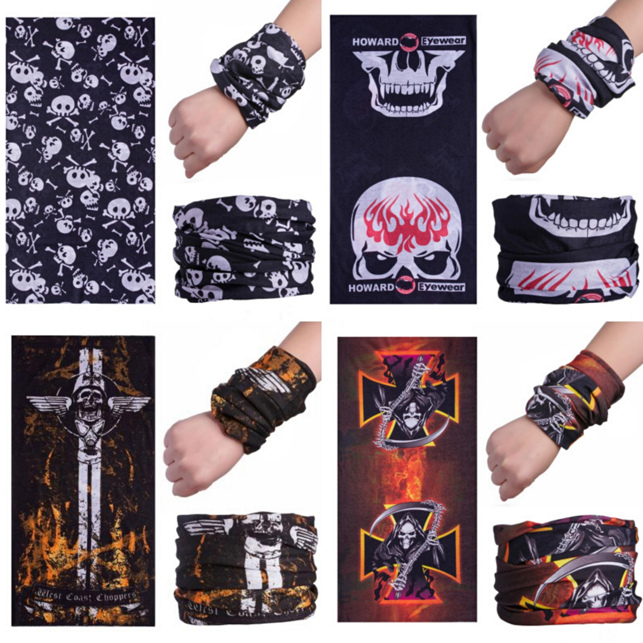 Man Cycling Headband Crânio escuridão 3D Magic Seamless Skull Scarf Bushy farpada Bandana Seamless Máscara Correndo face Escudo Balaclava # 810