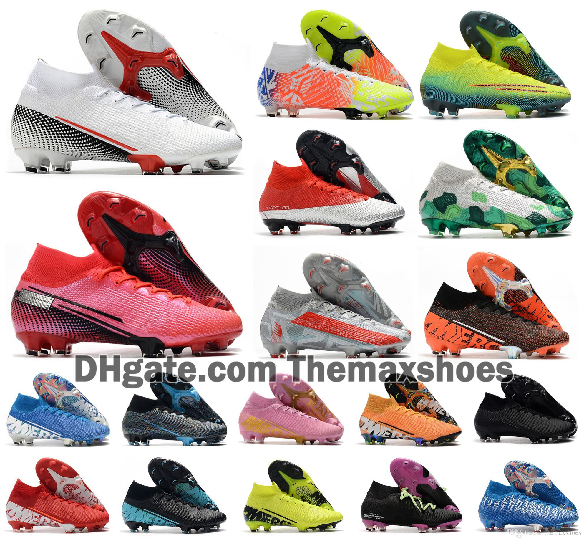 Sıcak 2020 Superfly VII 7 360 Elite SE FG Gelecek DNA 002 CR7 Ronaldo Neymar NJR Erkek Erkek Futbol Ayakkabı Futbol Boots Cleats US3-11