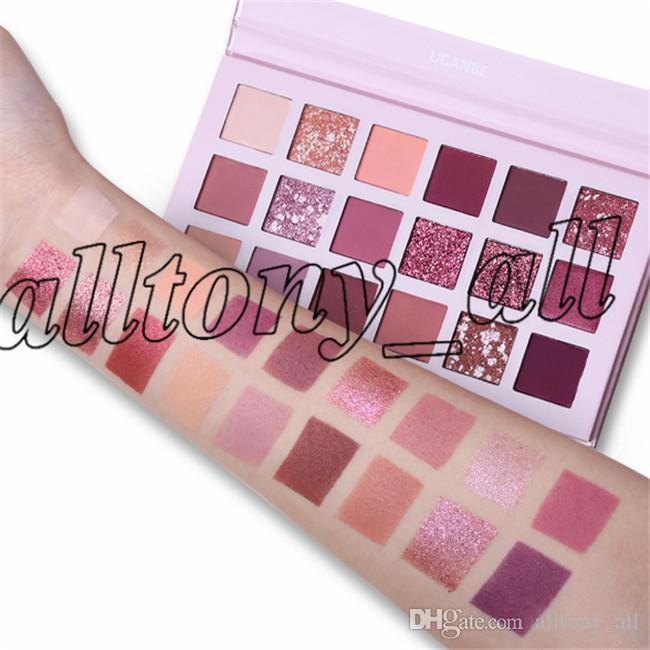 UCANBE Marque Shimmer Matte 18 ombres à paupières couleurs de maquillage Palette Long Lasting nue étanche Ombre à paupières surligneur poudriers Kit