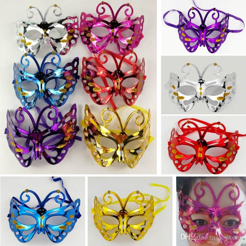 Halloween Mask Costume Cosplay Masquerade Butterfly Half Face Masks For Adults Party Makeup Prom Dance Christmas Bauta Mask FA2907