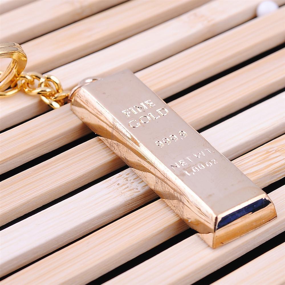 نقية غرامة الذهب سلسلة مفتاح سلاسل المفاتيح الذهبية أقراط النساء حقيبة يد سحر المعادن قلادة مفتاح مكتشف مفتاح الرجل السيارات الفاخرة