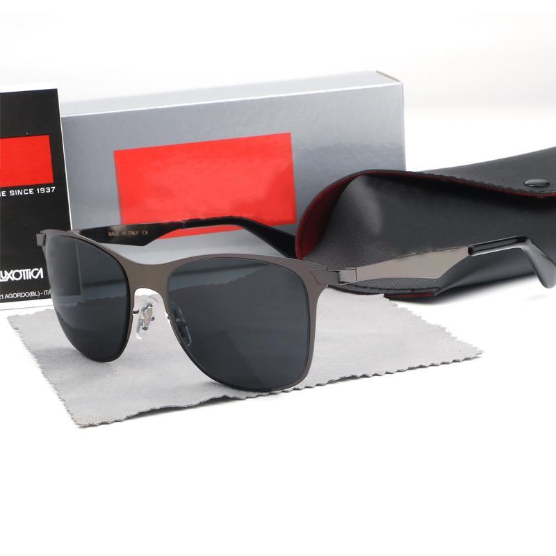 2019 Marka Güneş Vintage Pilot wayfarer Güneş Gözlükleri Bant UV Erkekler Kadınlar Ile Ben Cam bain Lensler kutusu 3521