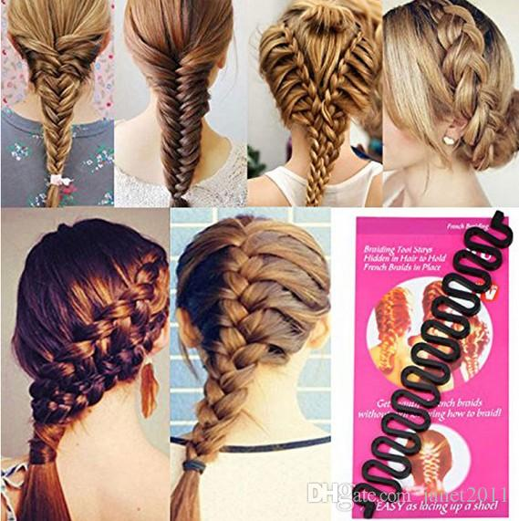 Fashion Hair Styling Clip Stick Practical Fish Bone Braid and Wave Braid Hair Styling Tool Hair Salon Accessories