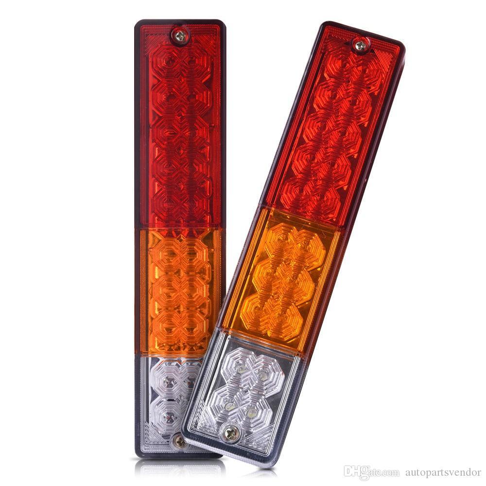 1 زوج مقطورة الذيل ضوء 10-30V الصمام أضواء مقطورة الإشارة تشغيل مصباح للسيارات شاحنة نصف الإضاءة طقم تشغيل مصباح 12V-24V