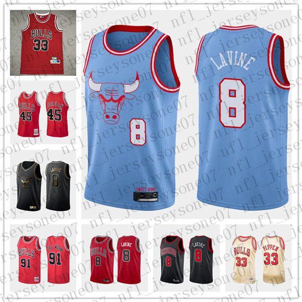 jovens homensChicagoBulls23 Jor danCosturado 8 Valentine 91Rodman Pippen vermelho Throwback Basketball Ediçãocamisola