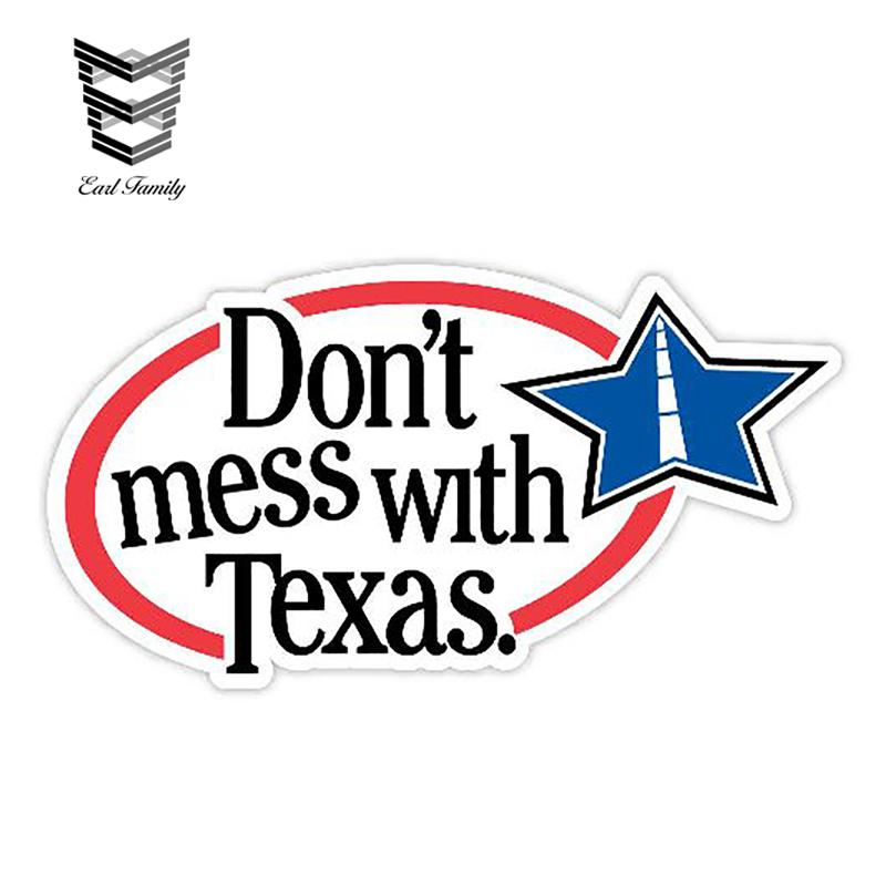13cm X 7cm Don't mess with Texas Sticker Decal Window Bumper Trunk Car Stickers Vinyl Decals Car Accessories Graphic