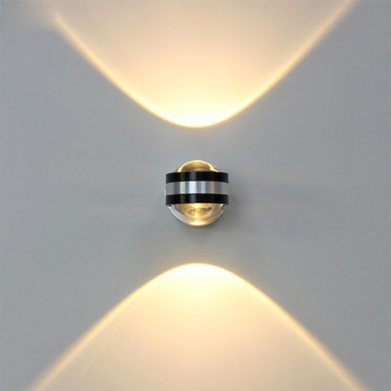 6W LED ضوء الحائط الألومنيوم صعودا وهبوطا داخلي الإضاءة الخفيفة لاعبا اساسيا مصباح الجدار على السرير غرفة المعيشة غرفة نوم الديكور مصباح