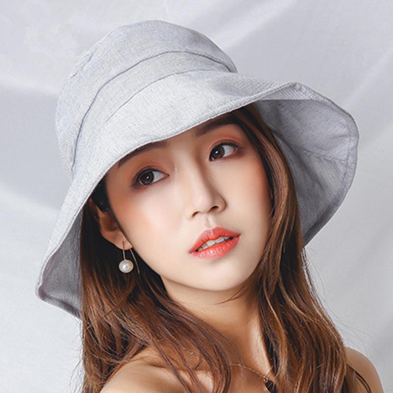 Yeni Yaz kadın Güneş Şapka Tüm-pamuk Yay Bayan Güneş Kremi Büyük Şapka Seyahat Plaj Güneş Şapka