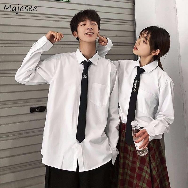 Camisas de los hombres sólido simple suave Parejas solo pecho ocasional más tamaño 5XL regular de moda Todo-fósforo coreano elegante Superior Masculina Chothes