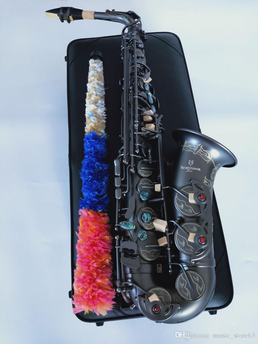 Strumento musicale giapponese Yanagisawa A-992 Alto Saxophone E-Flat Black Sax Alto Bocchino legature Reed collo con scatola di cuoio