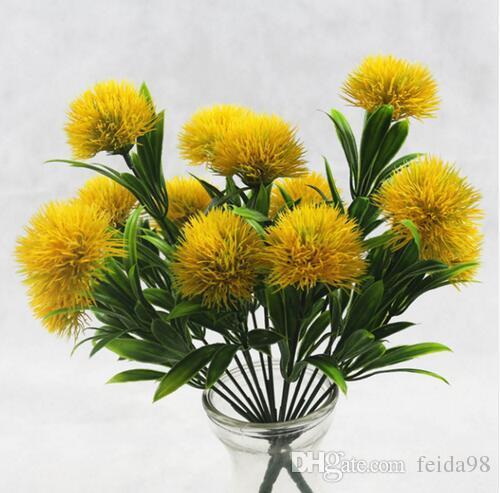 1 Buket 7 Kafaları 5 CM Karahindiba Çiçekler Ev Dekoratif 3 renkler PE Köpük Yapay Çiçekler Düğün sevgililer Günü Için dekorasyon GB143