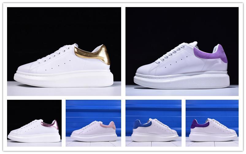 Platform Shoes cuoio del progettista di lusso degli uomini delle scarpe da tennis migliore superiore di modo dell'annata delle donne di piatto esterna giornaliera partito Scarpa Casual 36-40