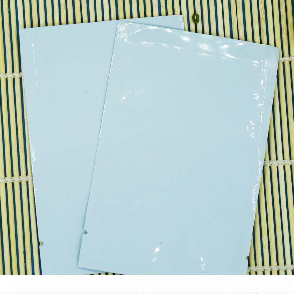 A 6x9cm détail, 200pcs pack x blanc aluminisé aluminium d'étanchéité à la chaleur mylar sac plat feuille bonbons au chocolat emballage collation poche plaine