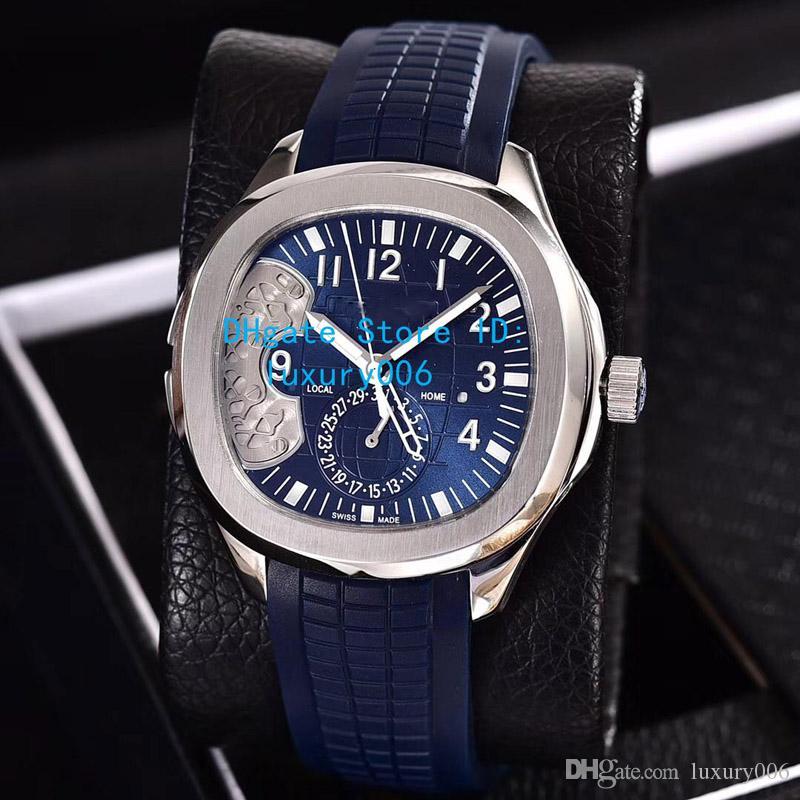 Venta de relojes de Hight Calidad 5164A-001 Asia transparente máquina automática MIYOTA La hebilla originales del reloj para hombre Relojes 43mm