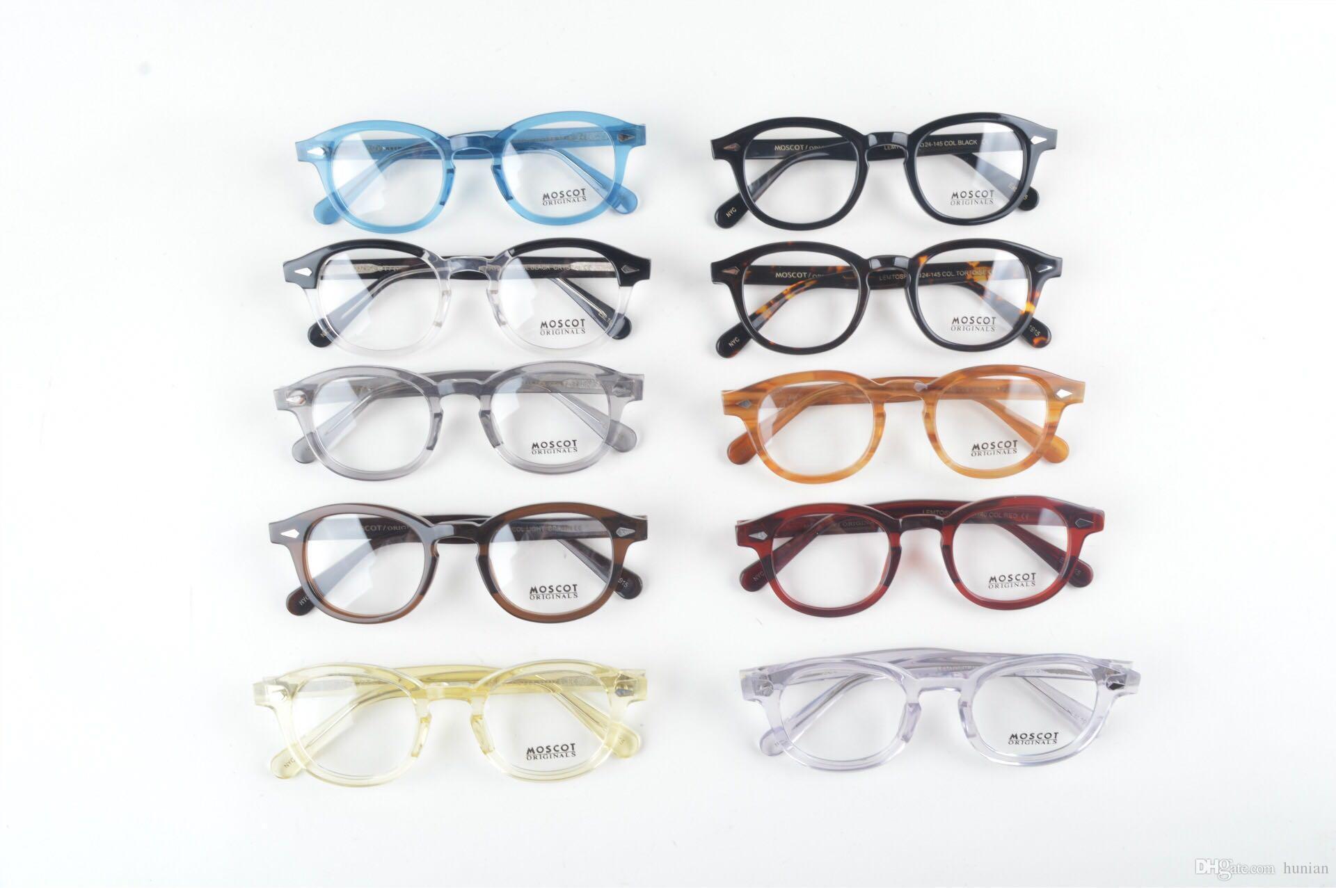 LEMTOSH gözlük çerçeve temizle lens johnny depp gözlük miyopi gözlük Retro óculos de grau erkekler ve kadınlar miyopi gözlük çerçeveleri