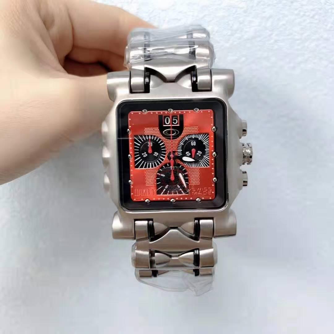 Herren Luxus beste Qualität Fabrik Quarzwerk Edelstahlwasserdicht Minute Machine Red Face Titanuhr Groß 04 Zustand
