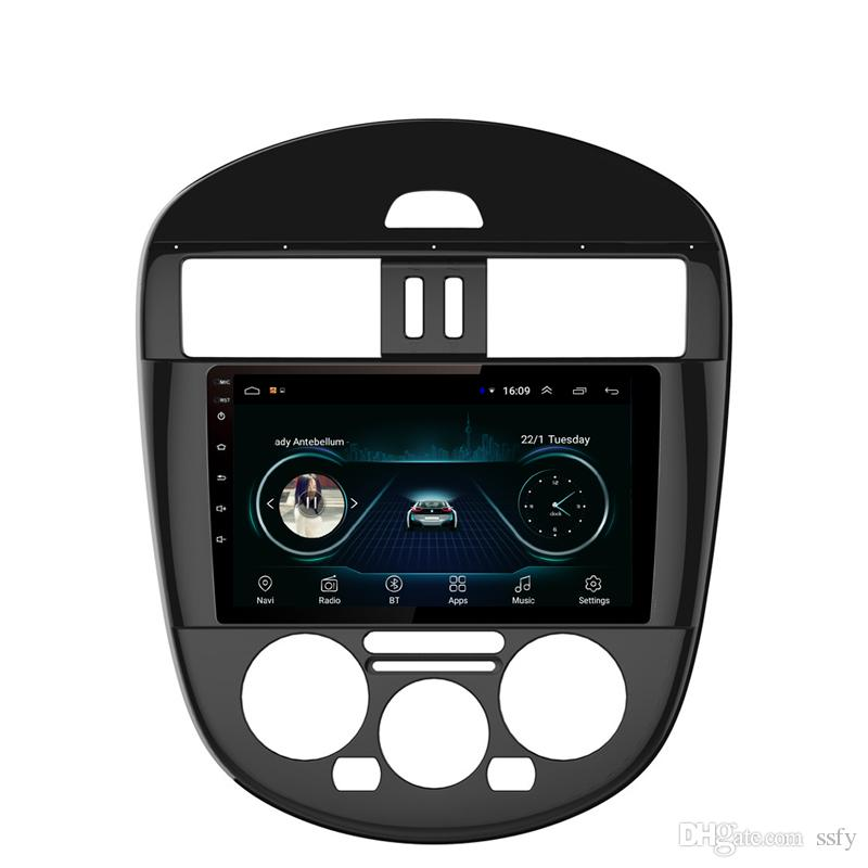Android car radio with multi-touch screen free map Resolution HD 1024 * 600 microphone bluetooth for Nissan new tiida manual AC 9inch