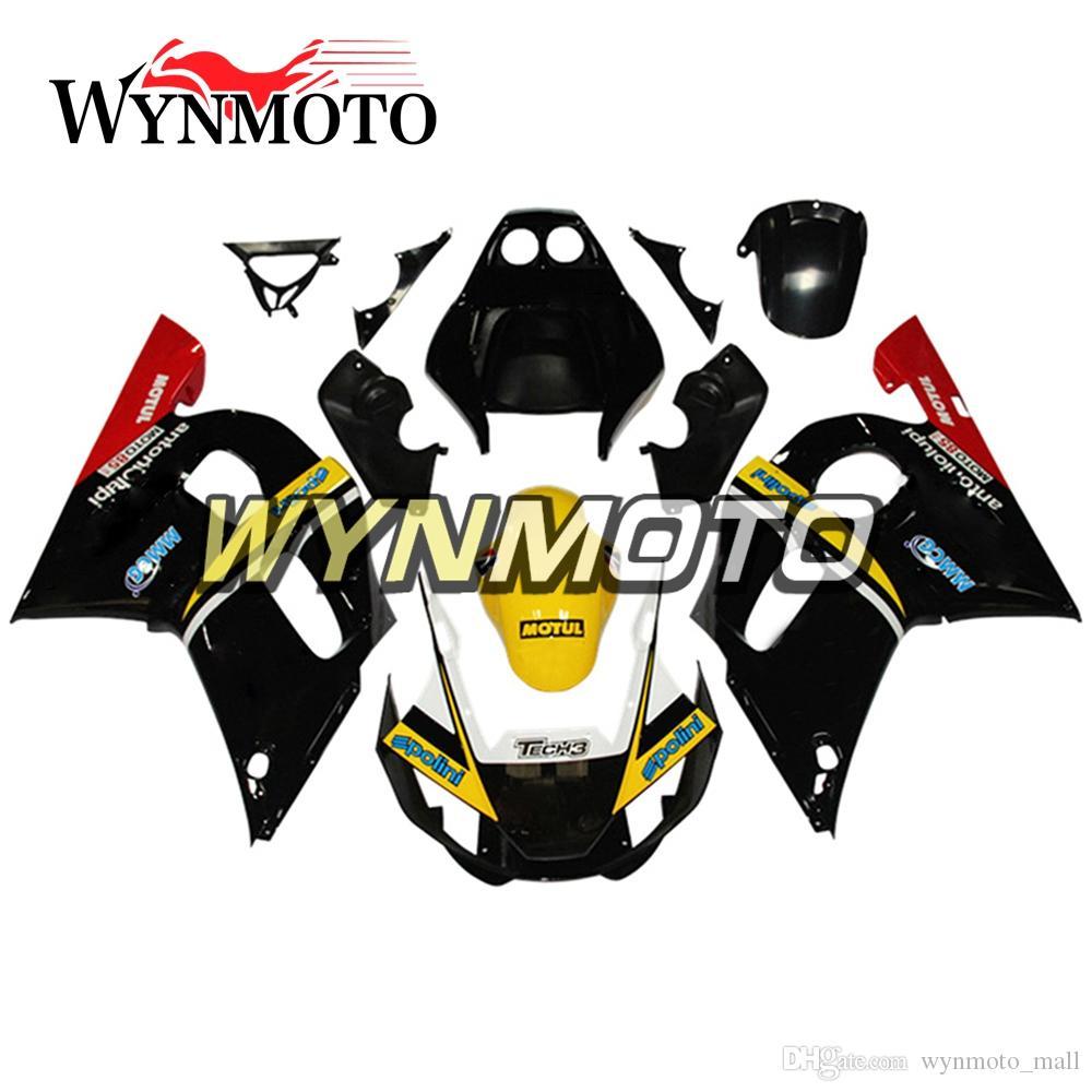 Cubiertas de motocicletas amarillas negras para Yamaha YZF-600 R6 Año 1998 99 00 01 2002 Kit completo de carenado de plástico YZF 600 R6 completo