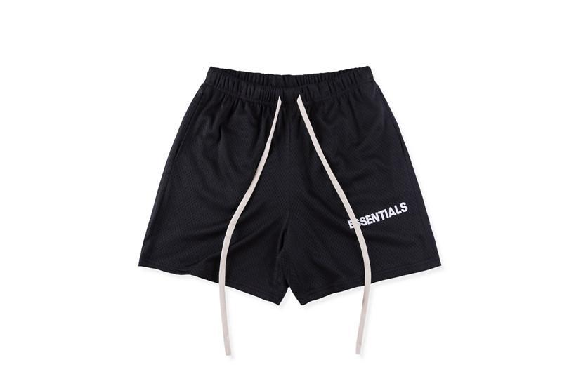 Diseñador FOG Fundamentos del alfabeto marca de moda de malla 100% algodón ocasional Algodón Tamaño verano cortos tendencia de la moda: S-XL