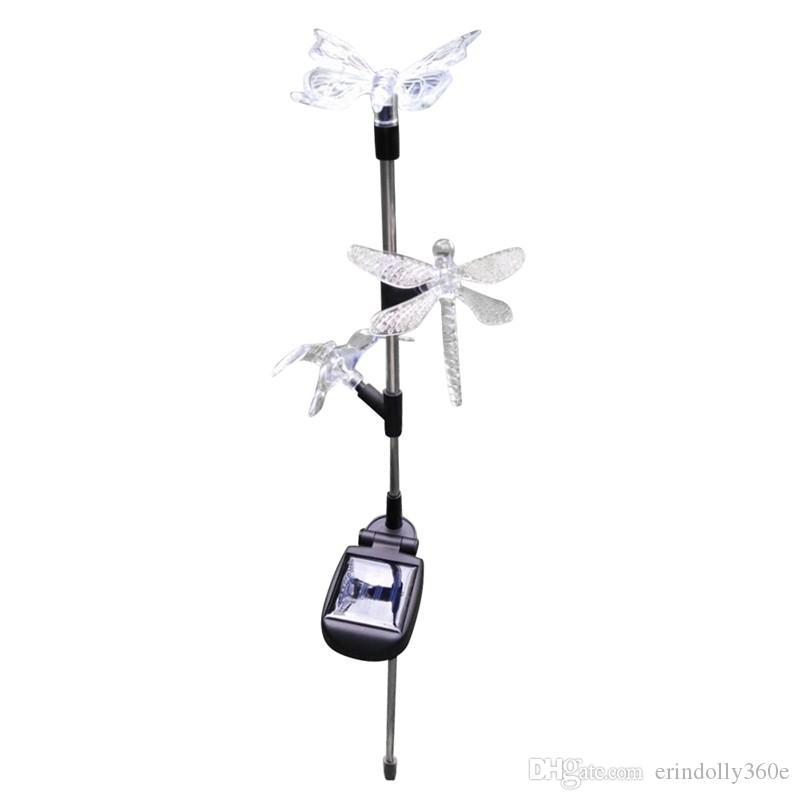 LED солнечный свет сада Красочные Открытый Имитация бабочка птица свет лужайки рождественские украшения Для дома